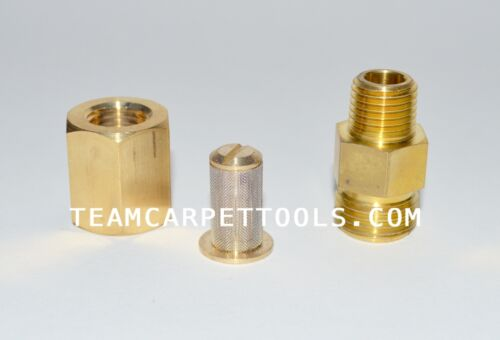 """2 WestPak In-line Strainer Filter Carpet Cleaning Wands /& Hoses 1//4/"""" MxF Brass"""