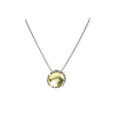 DAVID YURMAN Women's Chatelaine Pendant Necklace w/ 8mm Lemon Citrine $350 NEW