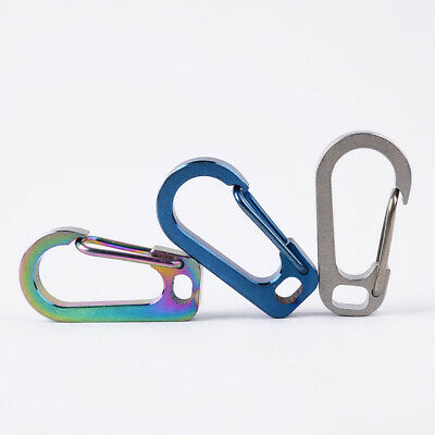 Mini Alloy Key Buckle Keychain Snap Spring Clip Hook Carabiner for Climbing Ring