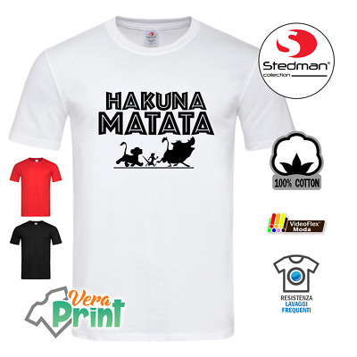 t-Shirt Simba Il Re Leone Disney Maglietta Nera