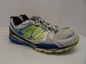 New-Balance-Men-039-s-1080v3-Running-Shoe-M1080WB3-White-Neon-Blue-Black-Size-13D