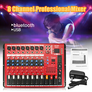 SMR801-DC48V-USB-8-Channel-Pro-bluetooth-Stage-Mixer-Stereo-AUX-DJ-Amplifier-Bar