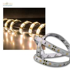 (4,50€/m) 5m LED Stripe warmweiß 12V ca.21W IP44 mit 300 LEDs Lichtband STRIP