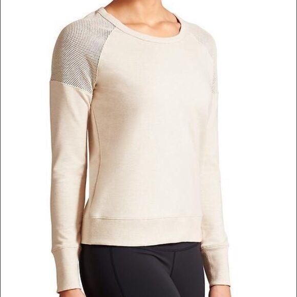NWT Athleta Athleta Athleta Citytime Sweatshirt, Oatmeal Heather SIZE M      v61 2e64f1