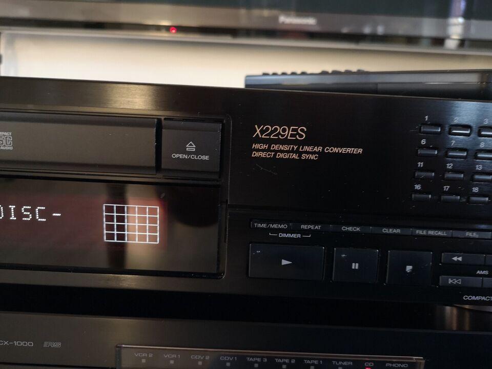 CD afspiller, Sony, Cdp-x229es