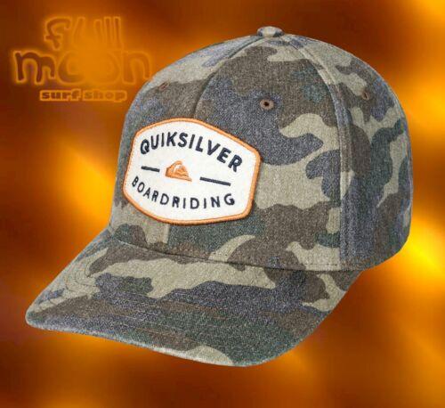 New Quiksilver Camo Yard Bull Mens Snapback Cap Hat