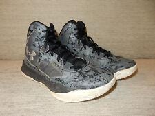 New Boys Under Armour 1276281-908 Lightning 2 PRT Basketball Shoe Blue Camo O57