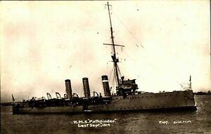 HMS Pathfinder RPPC postcard real photograph Royal Navy military antique