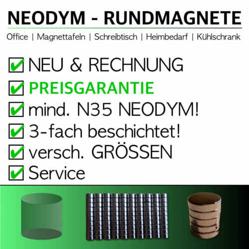 2x3mm ✩ GÜNSTIGE NEODYM MAGNETE ✩ Tafelmagnete Wandmagnete Rundmagnete STARK