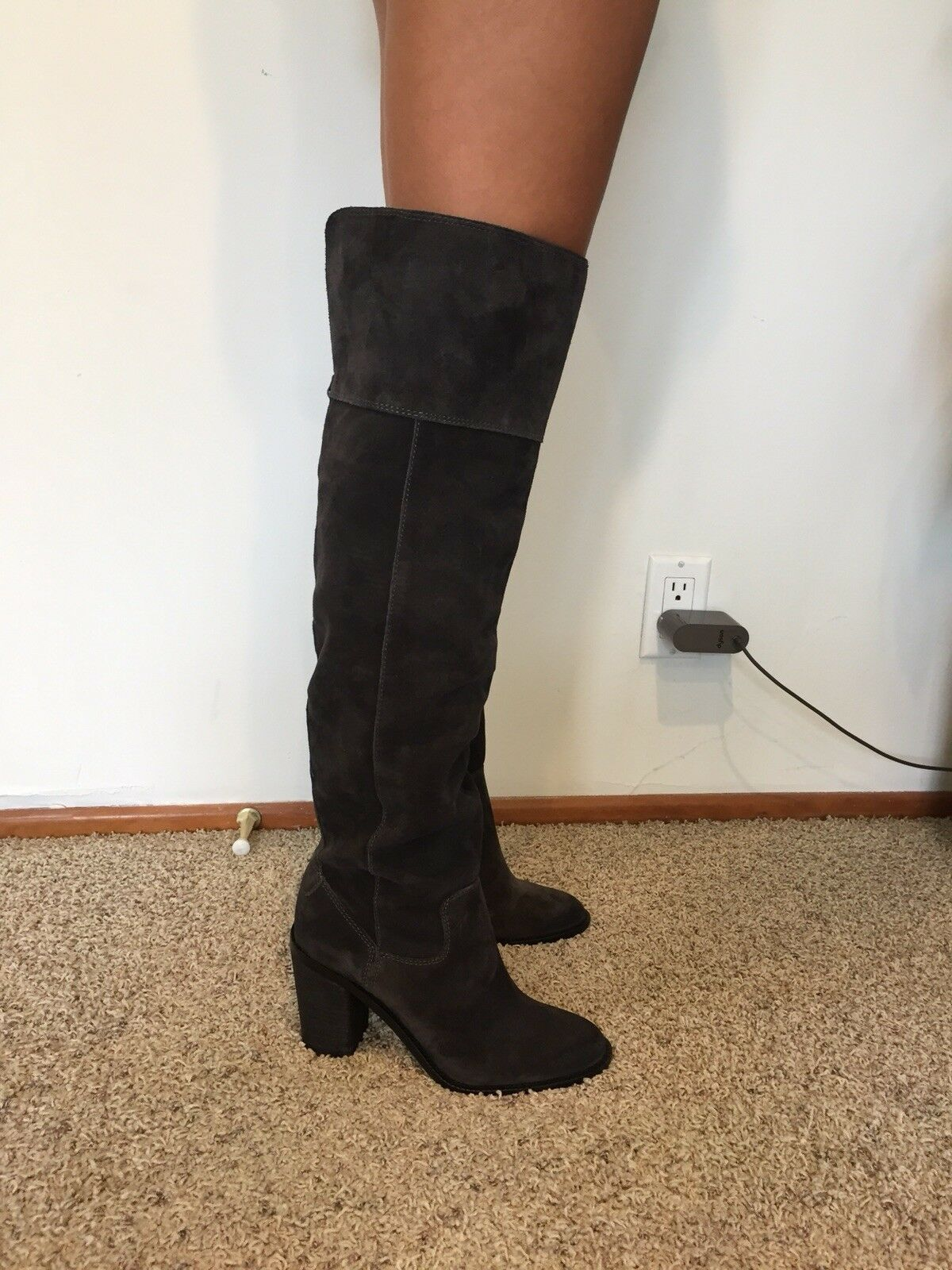 Steve Madden Orlando Boots 8, leather suede