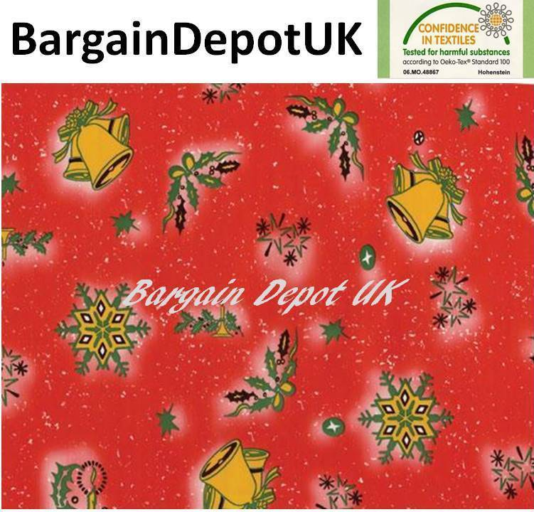 Christmas PVC Wipe Clean Vinyl Tablecloth ALL SIZES - Code  F203-2