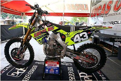 Geico HONDA Graphics Kit Polisport Restyle kit Supercross Motocross Replica