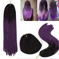 20 PCS  Crochet Braids Braiding Hair Extensions Ombre Kanekalon Afro Box Braids