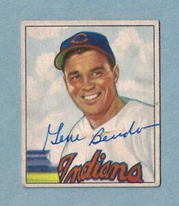 1950-Bowman-93-Gene-Bearden-Cleveland-Indians-Signed-Card-Dec-039-d-2004
