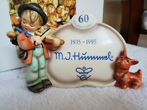 Goebel Hummel Puppy Love #767 Display Plaque w/Box TMK-7 - 60th Anniversary