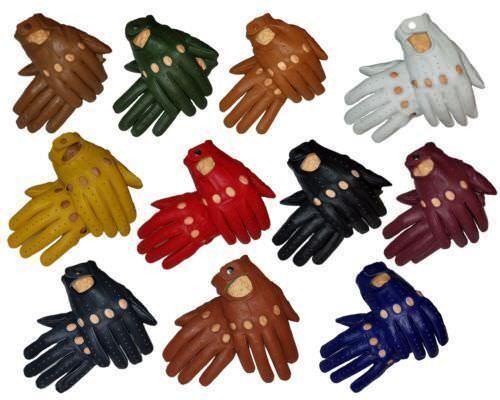 Men's Sheep Skin Soft Leather Driving Trucking Fashion Groomsmen Gloves