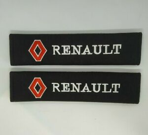 NEUF-x2-PROTECTIONS-COUVRE-CEINTURES-SECURITE-RENAULT-CLIO-MEGANE-R5-R19
