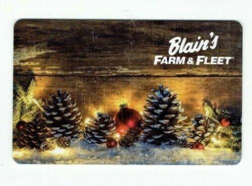 No Value Pine Cones Blain/'s Farm /& Fleet Gift Card Christmas I Combine