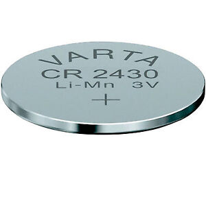 5x CR2430 - VARTA - KNOPFZELLEN / BATTERIEN LITHIUM 2430 BATTERIE - lose