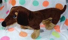 "16"" Ikea Smaslug Dachshund Weiner Dog Brown Plush Stuffed Animal Toy puppy"
