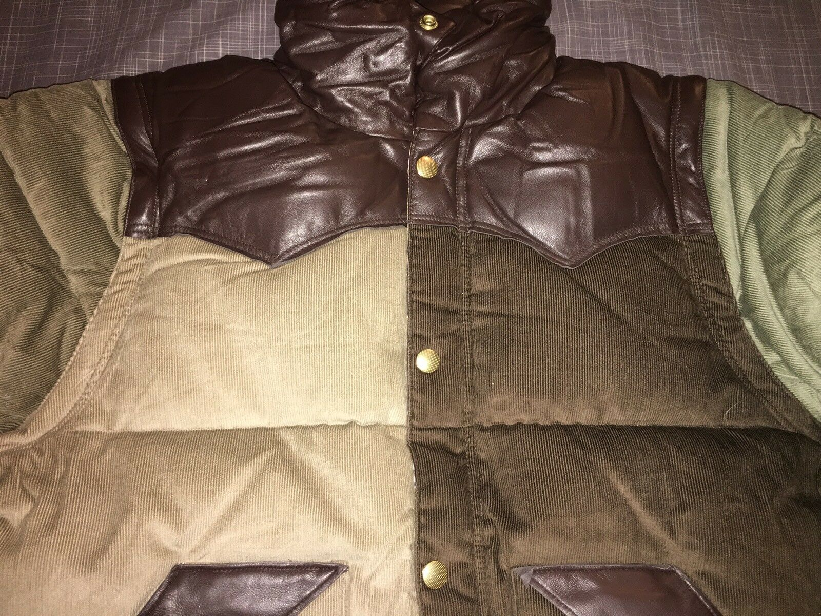 MultiFarbe PRPS 100% Authentic Quilted Jacket Removable Sleeves Größe L L L 95b