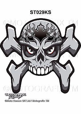 CBR GSXR ZXR YZF Skull X-Bones Motorcycle Tank Pad Motografix 3D Gel Protector