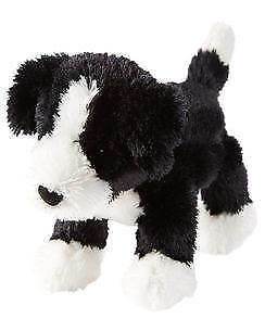 Carter S Plush Puppy Dog Black White Red Collar Stuffed Animal Baby
