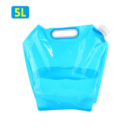 5//10L Portable Foldable Drinking Water Bag Carrier Container Outdoor Camping
