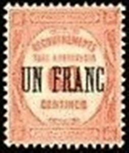 FRANCE-STAMP-TIMBRE-TAXE-N-63-034-RECOUVREMENT-UN-F-s-60c-ROUGE-034-NEUF-x-TB