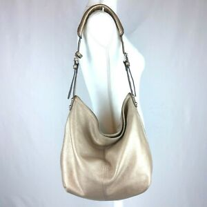 Tignanello-Hobo-Bag-Gold-pebbled-leather-large-purse-shoulder