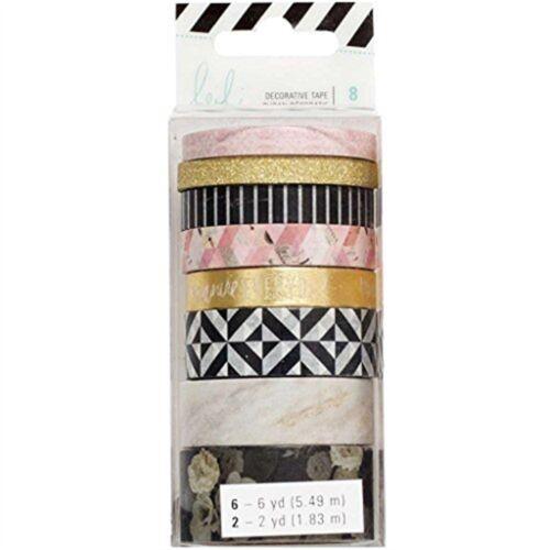 American Crafts Heidi Swapp Magnolia Jane Washi Tape Rolls 8//pkg- 8pkg 313660