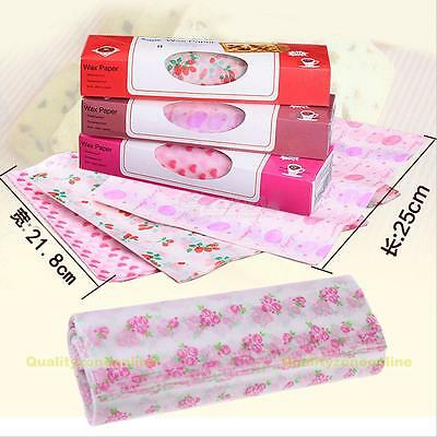 Waxed paper -50pcs Waterproof Greaseproof Pastry Food Wrap Wrapping Paper