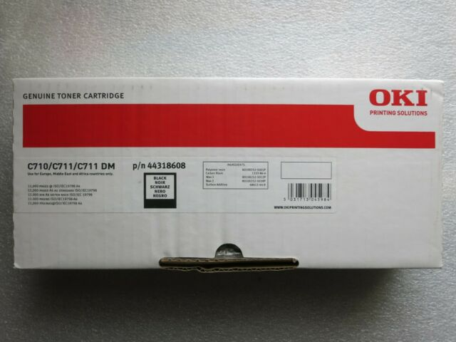Genuine OKI Toner Cartridge BLACK 44318608 C710 / C711 / C711 DM 11,000 pages UK