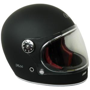 VIPER F656 RETRO VINTAGE FIBREGLASS FULL FACE MOTORBIKE MOTORCYCLE HELMET BLACK