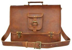 15-034-Men-039-s-Leather-Messenger-Bag-Shoulder-Business-Briefcase-Laptop-Bags-Handmade