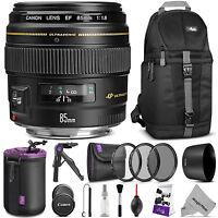 Canon Ef 85mm F/1.8 Usm Medium Telephoto Lens (2519a003) W/ Accessories Bundle
