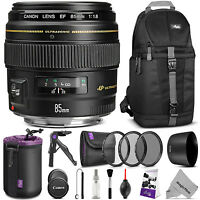 Canon Ef 85mm F/1.8 Usm Medium Telephoto Lens (2519a003) W/ Accessories Bundle on sale