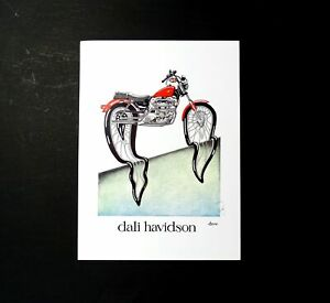 Harley Davidson Motorbike Art Simon Drew Dali Havidson Large Print Signed