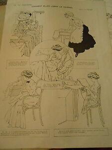 Comment Elles Lisent Le Journal Print Art 1907 Uyhjya4j-07172552-831478657