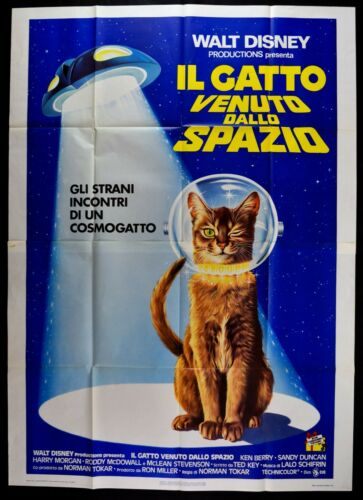 M193 MANIFESTO 4F THE CAT COME BY SPAZIO WALT DISNEY NORMAN TOKAR KEN BE