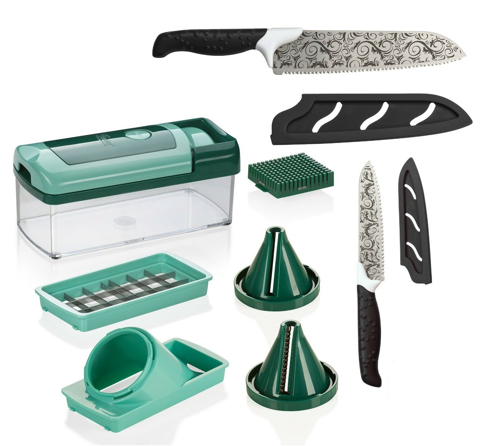 Genius Magic Cut   10 Teile   inkl. GRATIS Nicer Dicer Fusion Smart   NEU