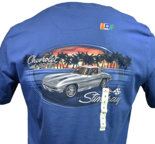 "Chevy 427-100/% Cotton 1963 Stingray Chevrolet Men/'s T-shirt /""Island Shores/"""
