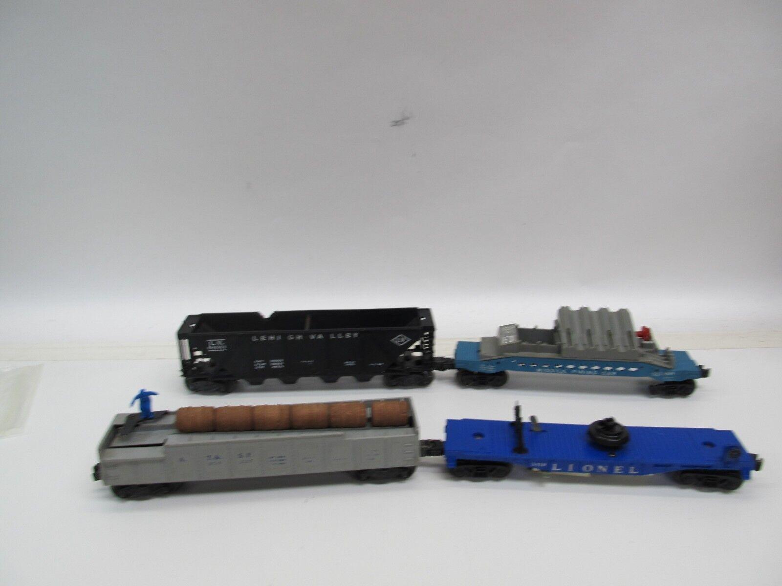 Lote de 4 autos de carga tren Lionel