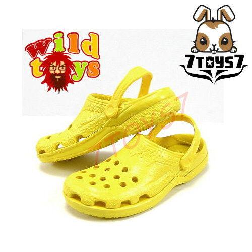 Sandal Now  WT006F Wild Toys 1//6 Plastic Clogs#6 Yellow