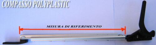 14509 COMPASSO POLYPLASTIC 28 CM DX CAMPER ROULOTTE CAS