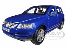 VOLKSWAGEN TOUAREG BLUE 1/24 DIECAST CAR MODEL BY BBURAGO 22015