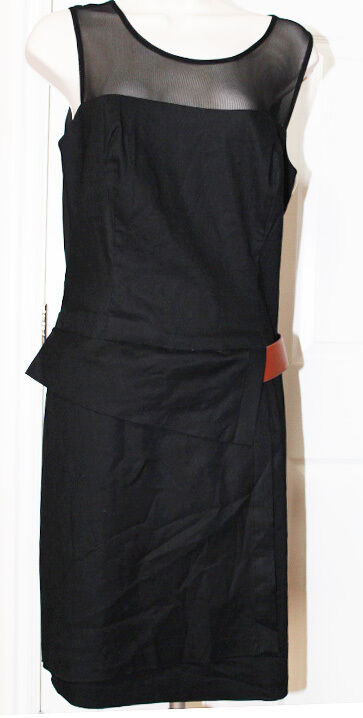 NEW Donna Ricco New York Women's Belted Dress Black Size 10