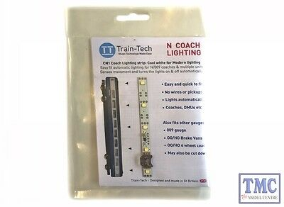 Consegna Veloce Ttcn1 Train Tech N Scale Coach Lighting Strip - Cool White