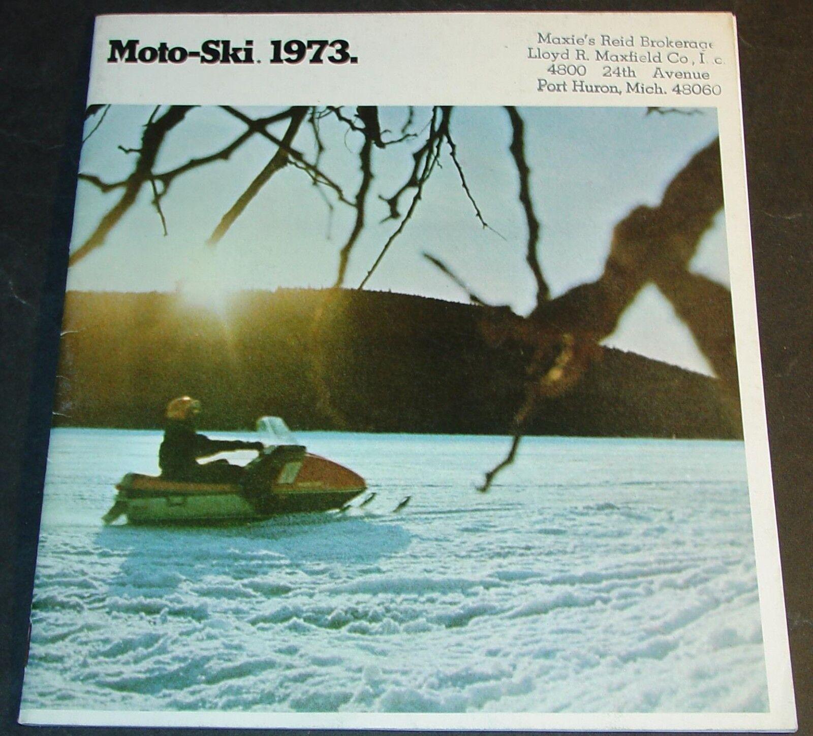 VINTAGE 1973 MOTO-SKI SNOWMOBILE SALES BROCHURE 24 PAGES  (474)