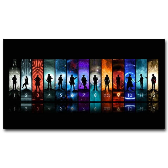 DOCTOR WHO 12 Doctors Art Silk Poster Print 13x24 24x43 inch